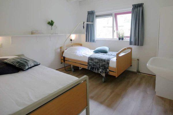 Bosbungalow het Edelhert aangepaste slaapkamer